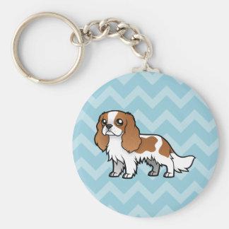 Cute Cartoon Pet Basic Round Button Keychain
