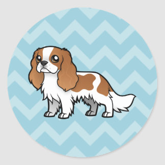 Cute Cartoon Pet Classic Round Sticker