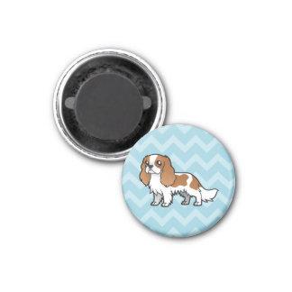 Cute Cartoon Pet 1 Inch Round Magnet