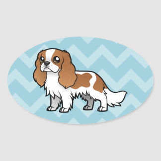 Cute Cartoon Pet Oval Sticker