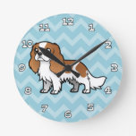 Cute Cartoon Pet Round Clock