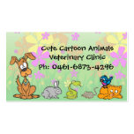 Cute Cartoon Pets Veterinary Double-Sided Standard Business Cards (Pack Of 100)