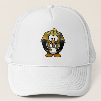 Cute Cartoon Pharoah Penguin Trucker Hat