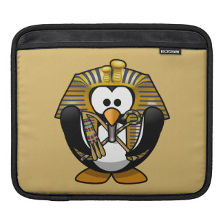 Cute Cartoon Pharoah Penguin with Gold Background Sleeve For iPads