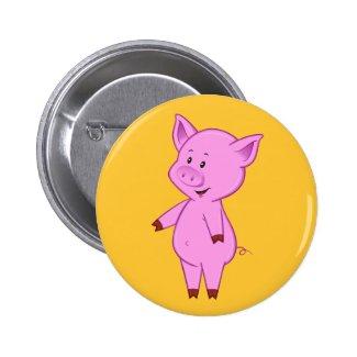 Cute Cartoon Pig Button