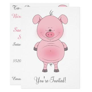 Cute Cartoon Pig Card