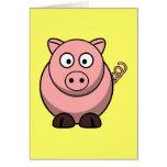 Cute Cartoon Pig Cards