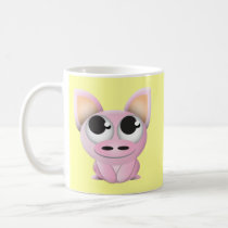 Cute Cartoon Pig Coffee Mug