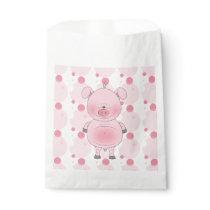Cute Cartoon Pig Favor Bag