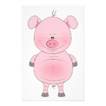 Cute Cartoon Pig Flyer