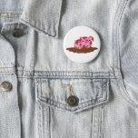Cute Cartoon Pig in The Mud Button