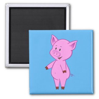 Cute Cartoon Pig Magnet