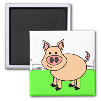 Cute Cartoon Pig Magnet
