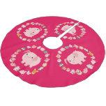 Cute Cartoon Pig Mandala Brushed Polyester Tree Skirt