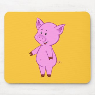 Cute Cartoon Pig Mouse Pad