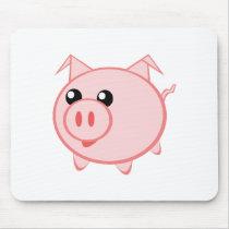 Cute cartoon pig mouse pad