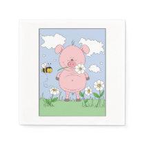 Cute Cartoon Pig Napkin