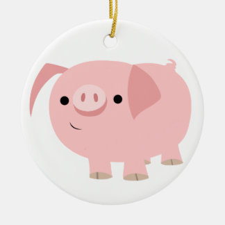 Cute Cartoon Pig Ornament