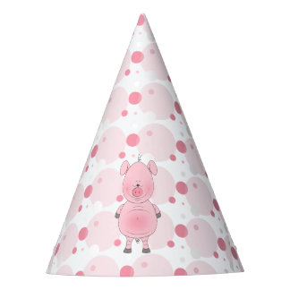 Cute Cartoon Pig Party Hat