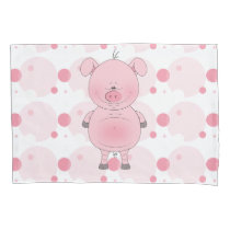 Cute Cartoon Pig Pillowcase