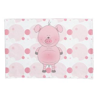 Cute Cartoon Pig Pillowcase