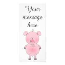 Cute Cartoon Pig Rack Card