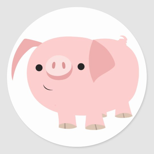 Cute Cartoon Pig Sticker