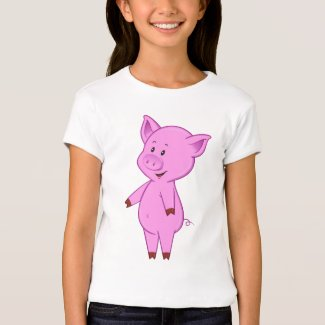 Cute Cartoon Pig Kid's T-Shirt