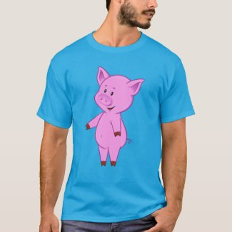 Cute Cartoon Pig Men's T-Shirt