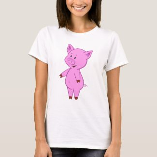 Cute Cartoon Pig Women's T-Shirt
