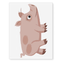 Cute Cartoon Pig Temporary Tattoo