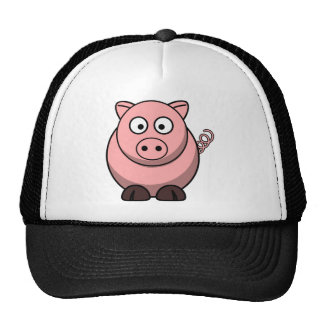 Cute Cartoon Pig Trucker Hat
