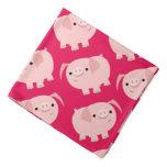 Cute Cartoon Pigs Bandana