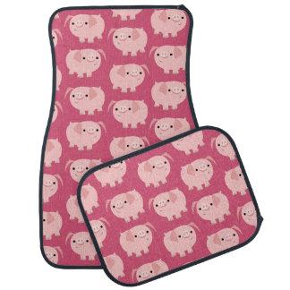 Cute Cartoon Pigs Car Mats