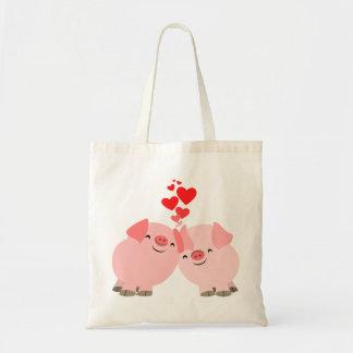 Cute Cartoon Pigs in Love Bag