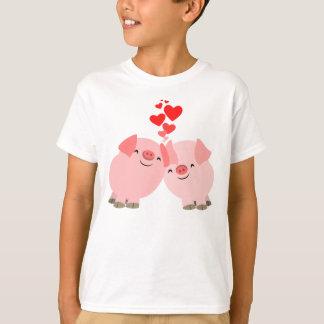 Cute Cartoon Pigs in Love Children T-Shirt