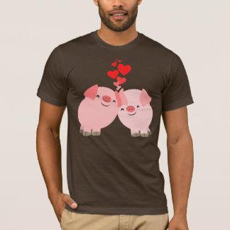 Cute Cartoon Pigs in Love T-Shirt