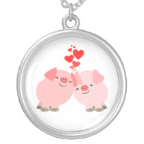 Cute Cartoon Pigs Necklace