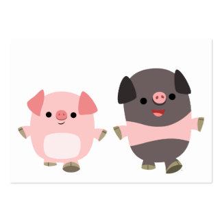 Cute Cartoon Pigs On a Walk ACEO/Business Card