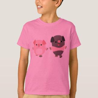 Cute Cartoon Pigs On a Walk Children T-Shirt
