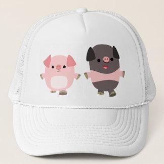 Cute Cartoon Pigs On a Walk Hat