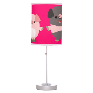 Cute Cartoon Pigs On a Walk Table Lamp