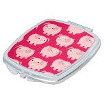 Cute Cartoon Pigs Pocket Mirror Compact Mirror