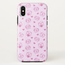 Cute cartoon pink pig iPhone XS case