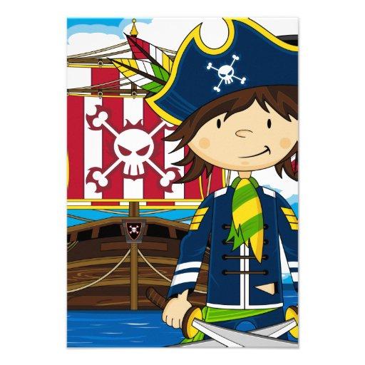 Cute Pirate Ship Cartoon
