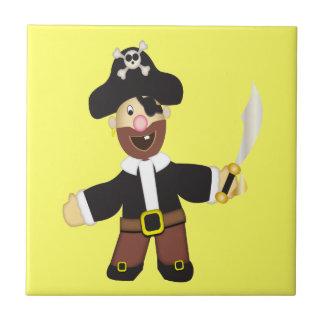 Cute Cartoon Pirate Ceramic Tile