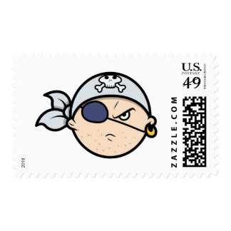 Cute Cartoon Pirate Face Stamp
