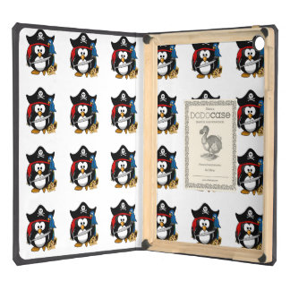 Cute Cartoon Pirate Penguin with Parrot Case For iPad Air