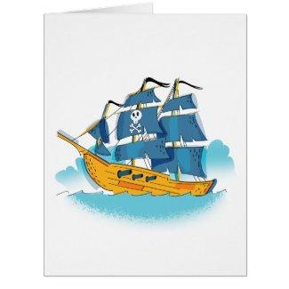 Cute Cartoon Pirate Ship
