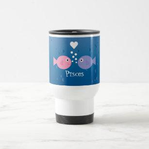 Cute Cartoon Pisces Fish Custom Travel Mug